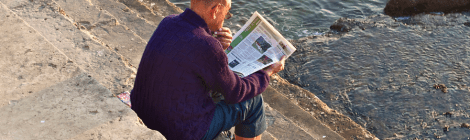 newspaper reading