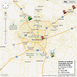 ammonium nitrate facility map