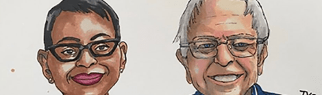 Bernie Sanders and Nina Turner