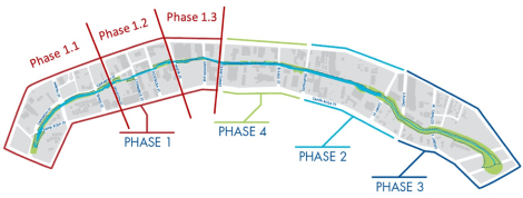Map of the San Pedro Creek Improvements Project