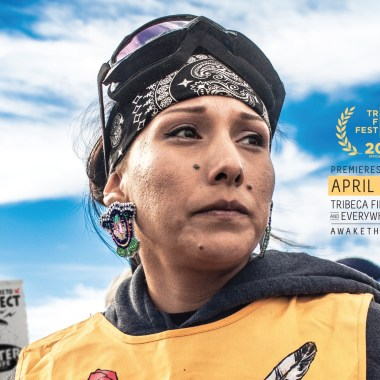 Detail from 'AWAKE' screening poster.