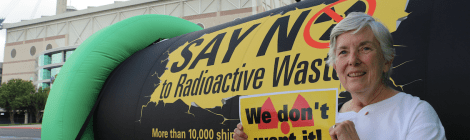 nuclear waste protest