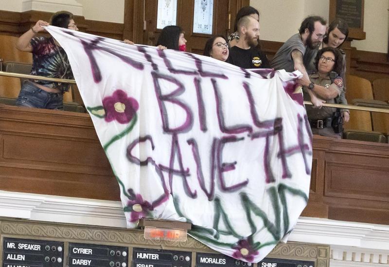 society banner drop - statesman