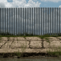 'Lamborghini' Border Wall About to Topple into the Rio Grande