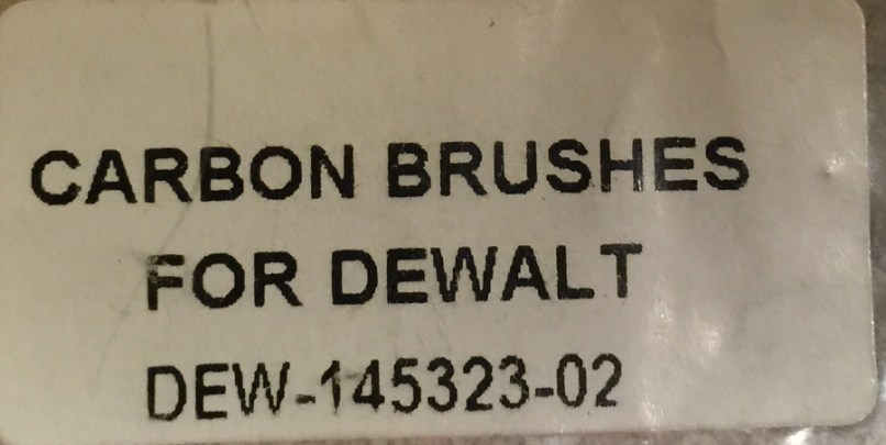 These Dewalt Brushes Will Work On The 12 Chicago Electric Miter Saw Here Is Part Number Dew 145323 02