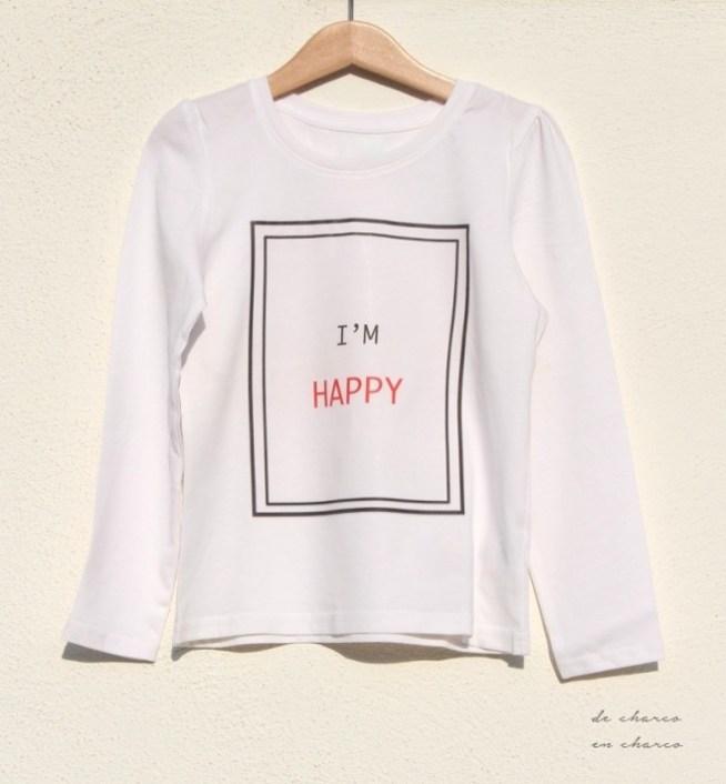 Camiseta I'M HAPPY para niño o niña