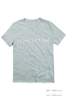 camiseta hombre familytime azul www.decharcoencharco.com
