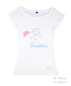 camiseta mujer logo www.decharcoencharco.com