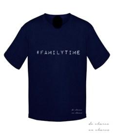 camiseta niño familytime navy www.decharcoencharco.com