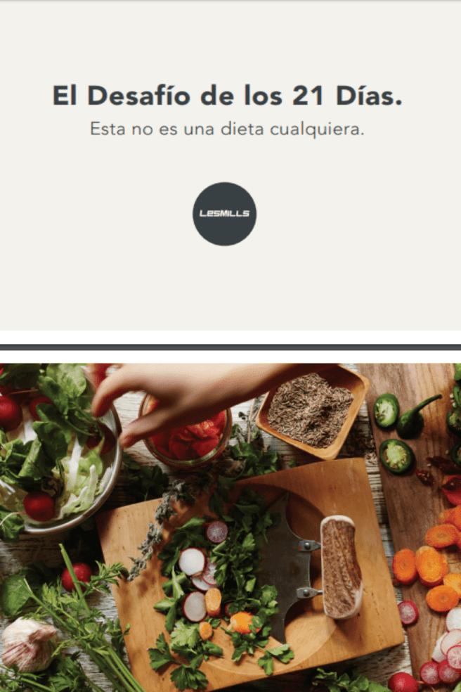 Como ajustar tu dieta alimentaria, PDF - Desafió de los 21 Días
