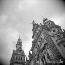 A Holga shot of the city hall. Camera: Holga 120N Film: Kodak Tri-X