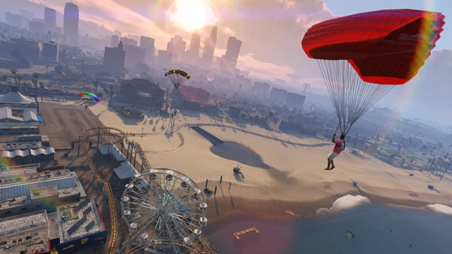 GTA V parachute cheat