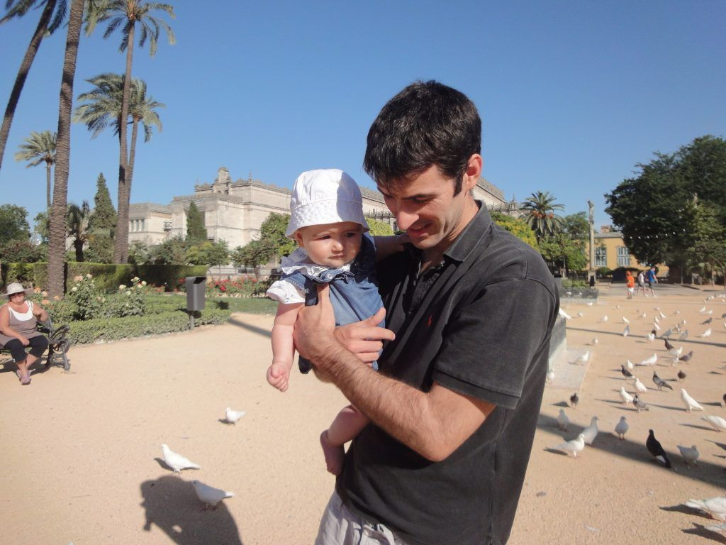 Disfrutando de mi reducción de jornada con mi primera hija