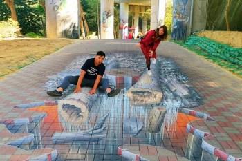【台南景點】台南首座土石流教育公園3D彩繪來了,好拍好玩又有教育意義~