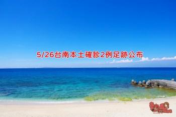 5/26台南本土確診5644、5645兩例足跡公布,相關場所台南市政府已消毒完畢!