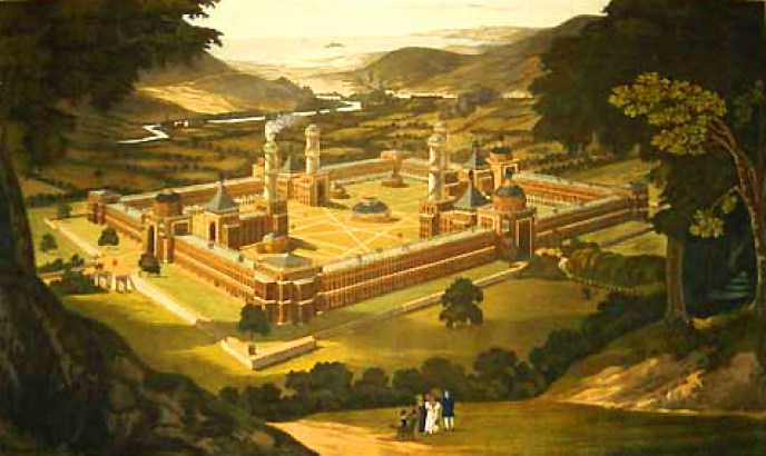 New_Harmony_by_F._Bate_(View_of_a_Community,_as_proposed_by_Robert_Owen)_printed_1838