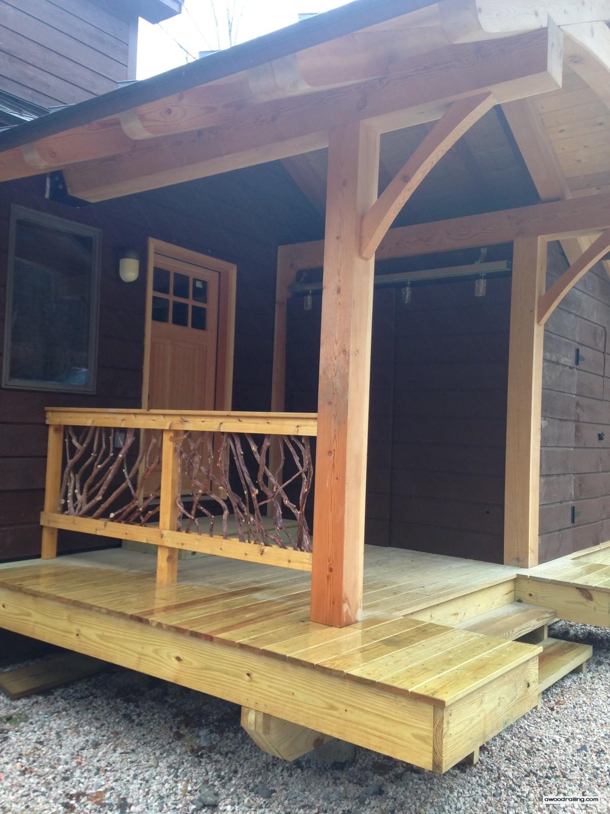 Wood Deck Handrail