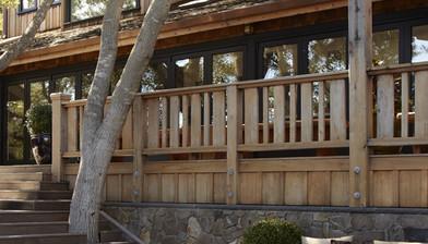 Different Width Vertical Board Railing Deck Railing Ideas