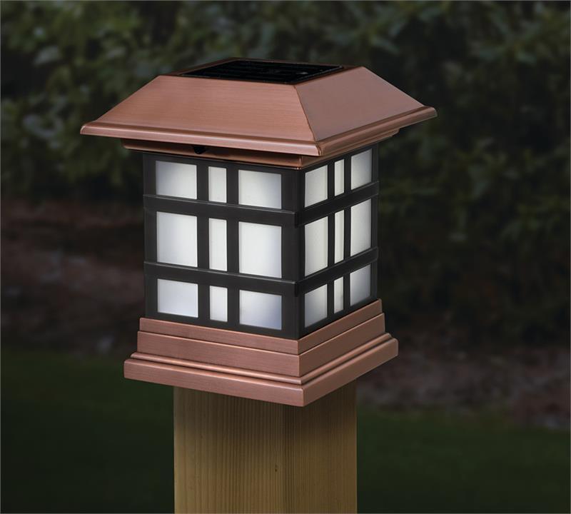 X Solar Post Cap Lights