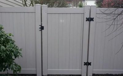 Grey PVC fence and gates