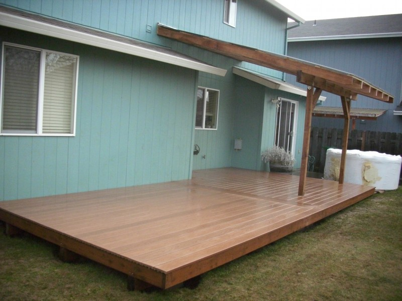 composite deck with patio cover deck