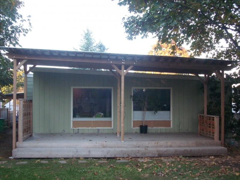 corrugated metal deck roof deck