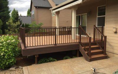 Trex deck with bronze Signature railing
