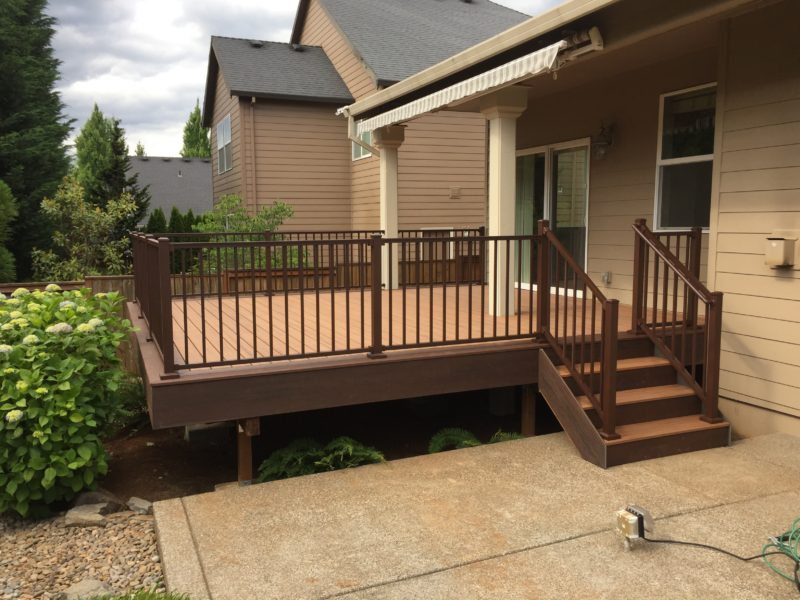 Trex deck with bronze Signature railing