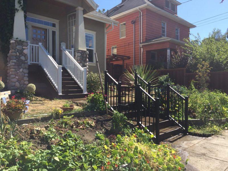 Trex decks and cedar fence