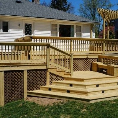Pressure Treated Pine Deck Pictures Ideas Designs Decks Com | Pressure Treated Wood Handrail | Menards | Deck Handrail | Cedartone Premium | Treated Pine | Treated Deck Stairs