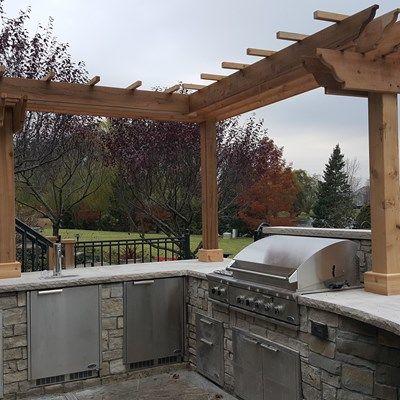 Outdoor Kitchen Pergola Picture 3635 Decks Com