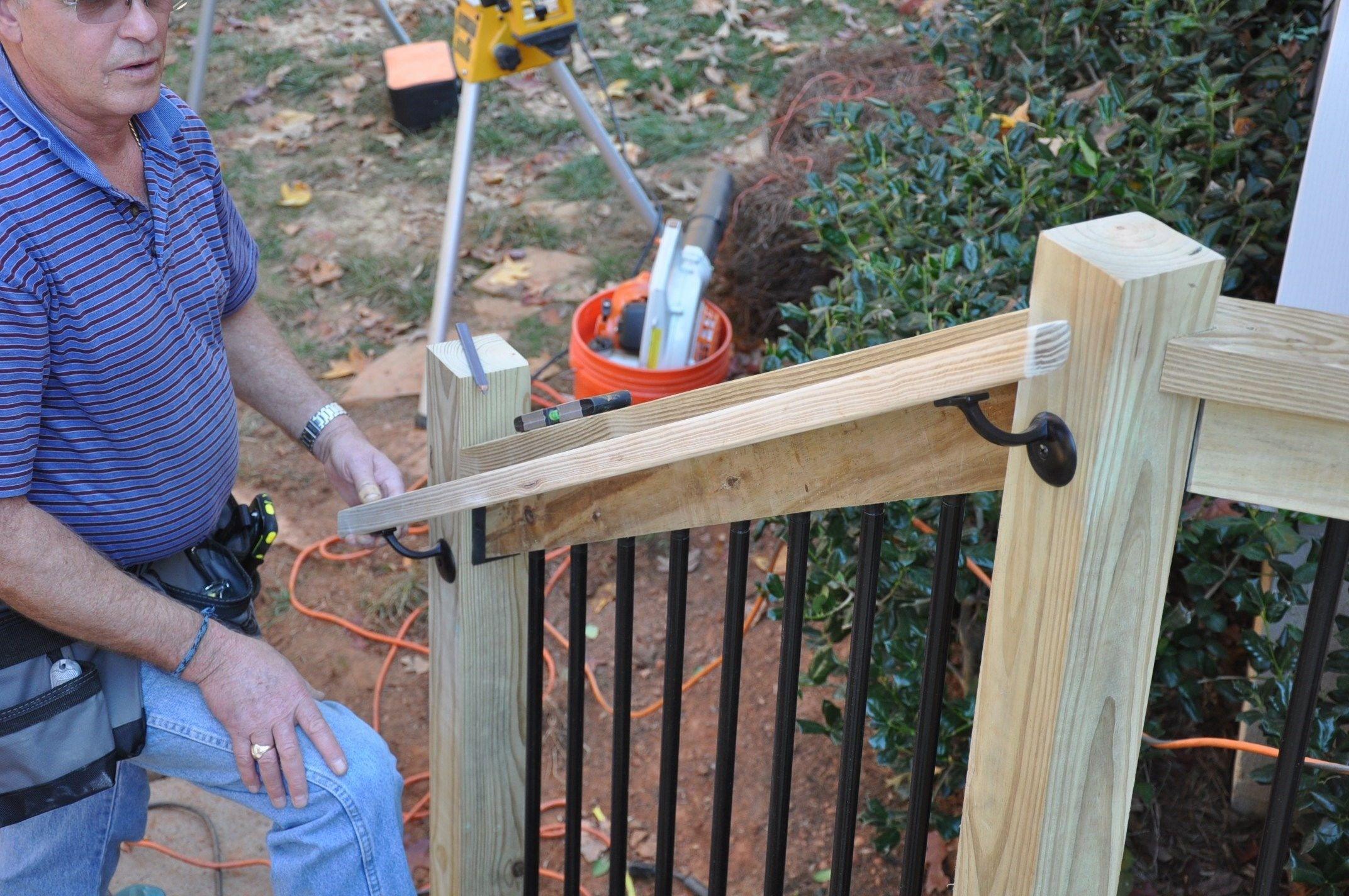 How To Install Deck Stair Railings Decks Com | Outdoor Stair Railings Near Me | Porch Railings | Front Porch | Composite | Metal Stair | Stair Treads