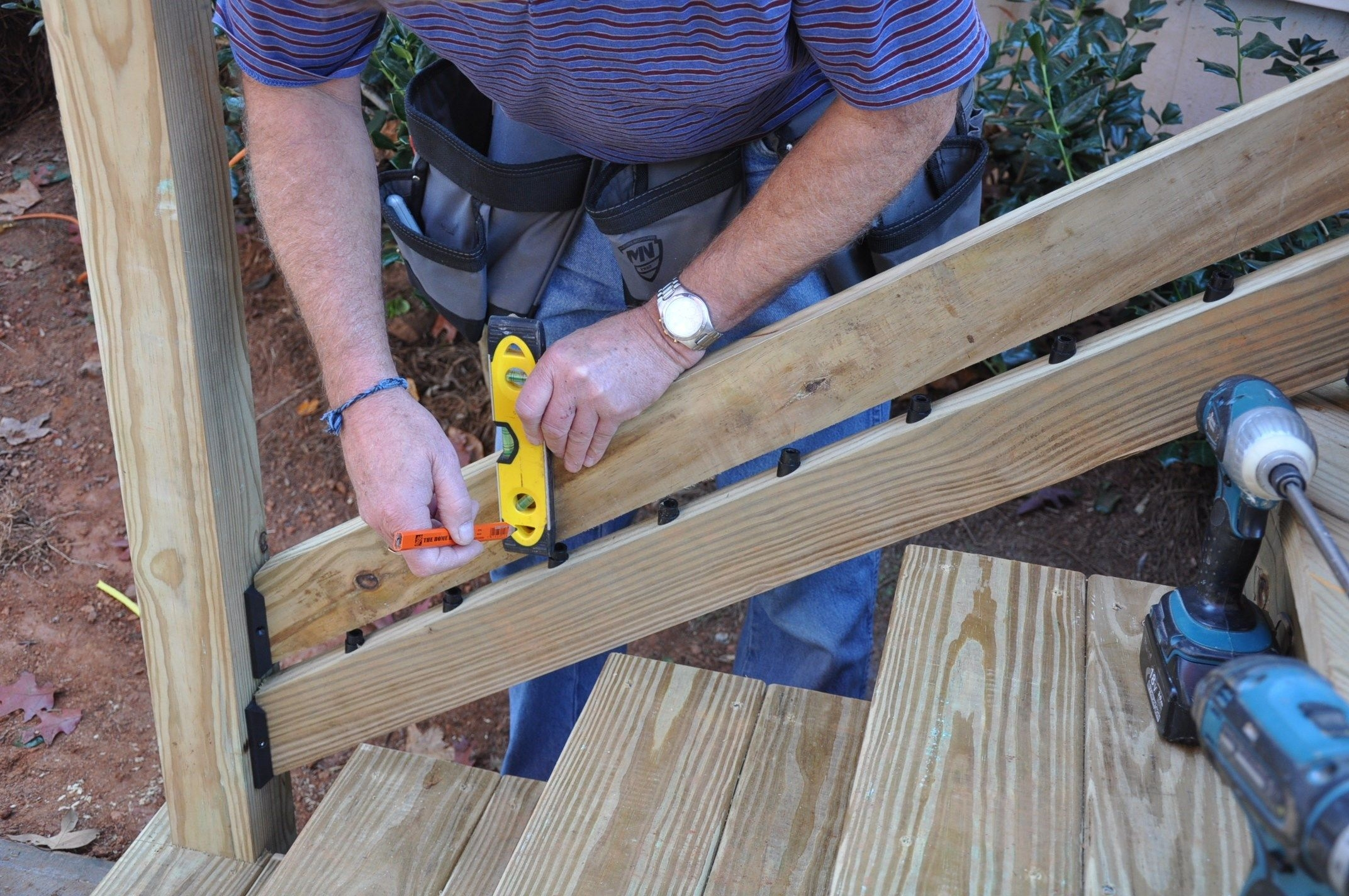 How To Install Deck Stair Railings Decks Com | Installing Deck Stair Railing | Outdoor Stair | Baluster | Railing Ideas | Stair Treads | Stair Stringers