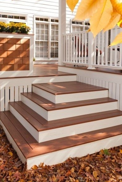 Building Box Steps And Stairs For Decks Decks Com | Wooden Handrail For Garden Steps | French Door Garden | Garden Stair | Landscape | Outside Step | Outdoor Near Me Step