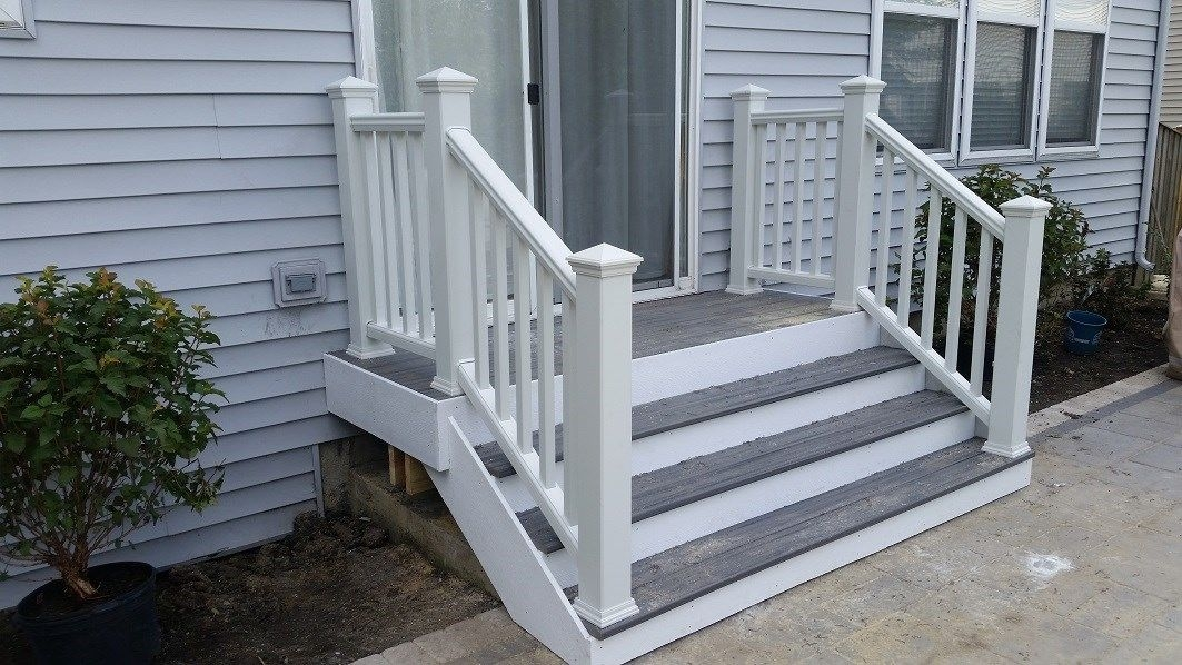 Composite Decking Railing Ideas Designs Pictures Page 21   Front Porch Stairs Design   Front Roofing   Small   Stone   Verandah Step   Beautiful