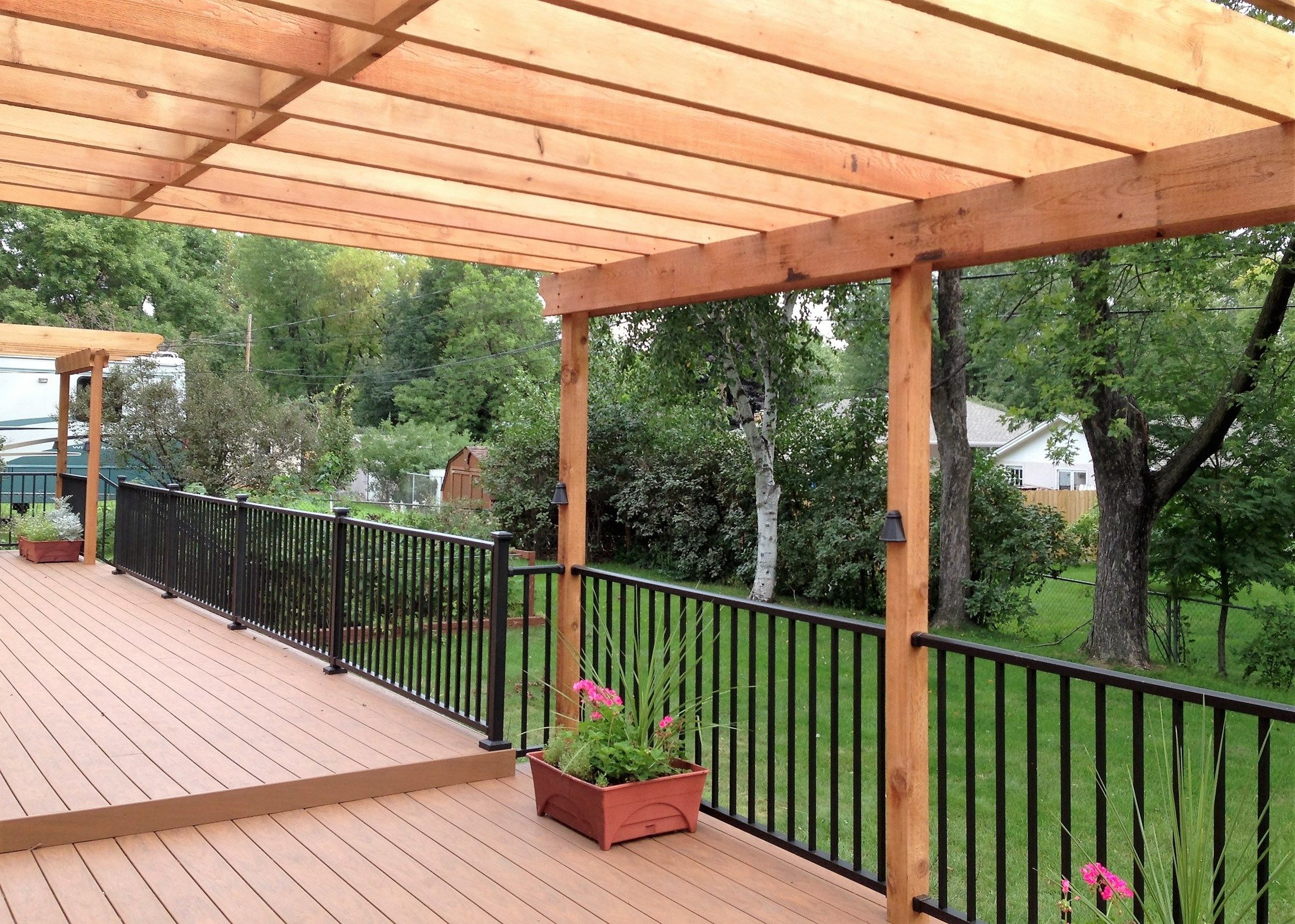 Pergola Over Deck Picture 6460 Decks Com