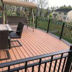 Custom Curved Deck With Aluminum Railings Picture 7557 Decks Com