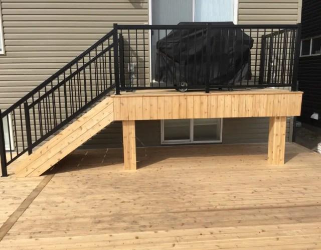 Raised Deck with aluminum railing