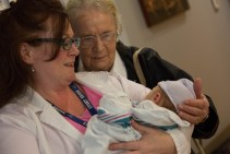 and got a great picture with Eve and Great Grandma.