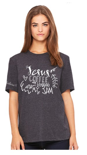 Jesus Coffee and Blogging are my Jam Declare Conference t-shirt
