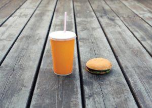 hamburger au sol