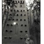 Grande mosquée de Mopti, Mali, photo noir et blanc, Jean-Pierre Devals