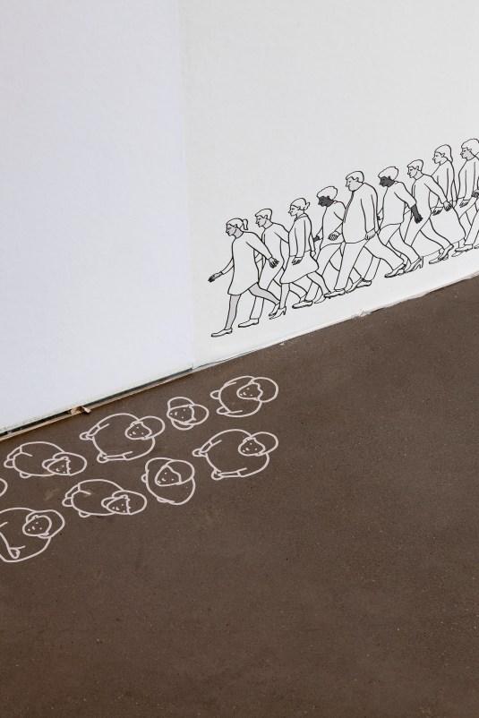 Detalle endeudados en desfile de los salarios de Jan Pen