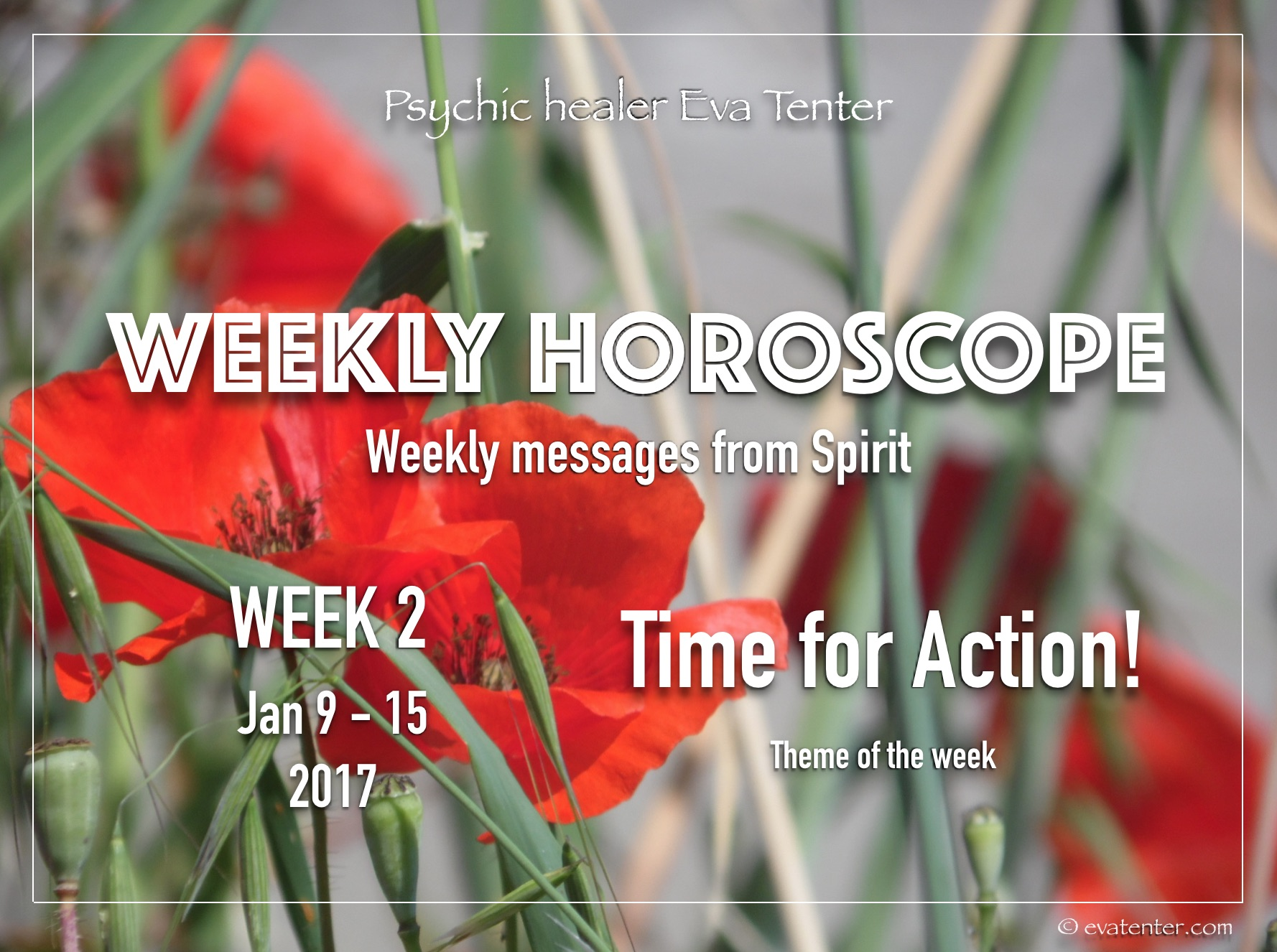 Weekly Horoscope January 9-15, 2017 #psychicreading #horoscope