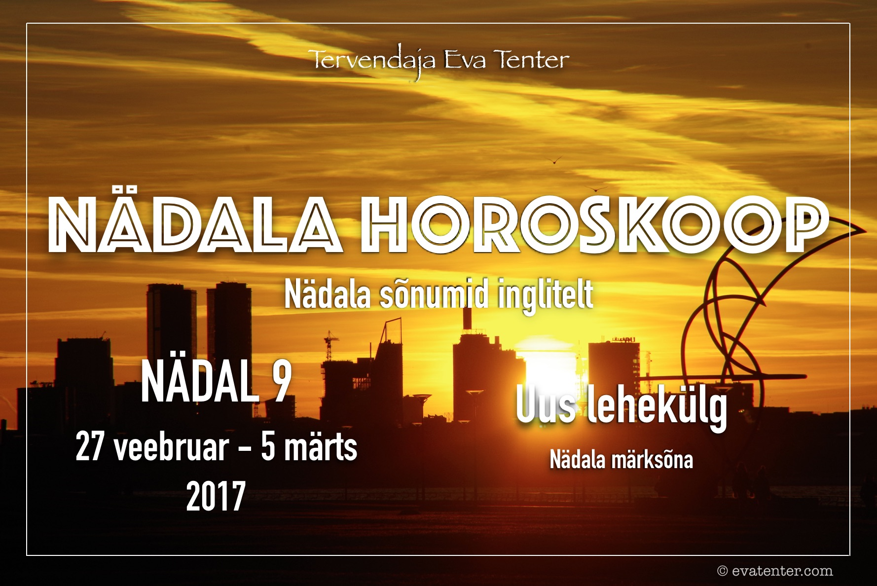 Nädala horoskoop 27.02-05.03.2017 #horoskoop