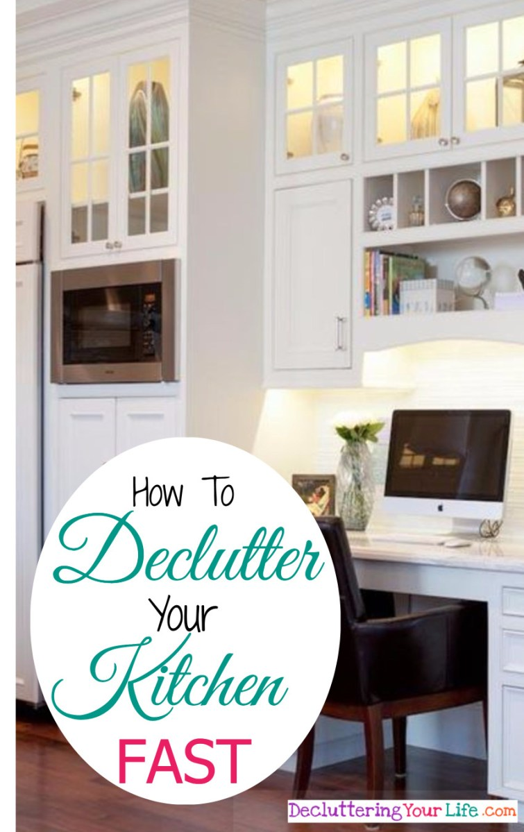Declutter your kitchen right NOW - 15 things to throw away in your kitchen RIGHT NOW to declutter and organize your kitchen super fast.