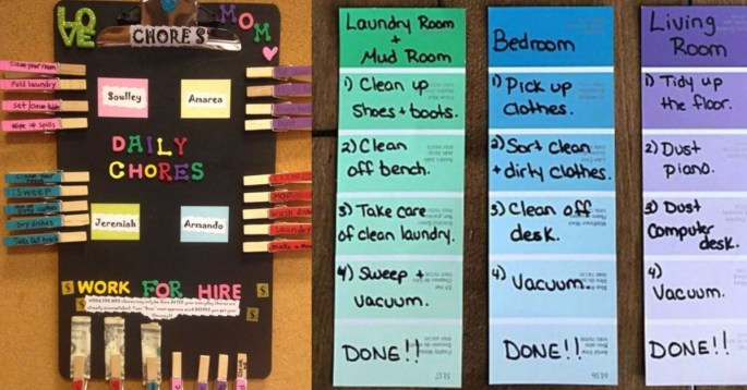 Diy Chore Chart Ideas For Your Kids New Chore Boards For