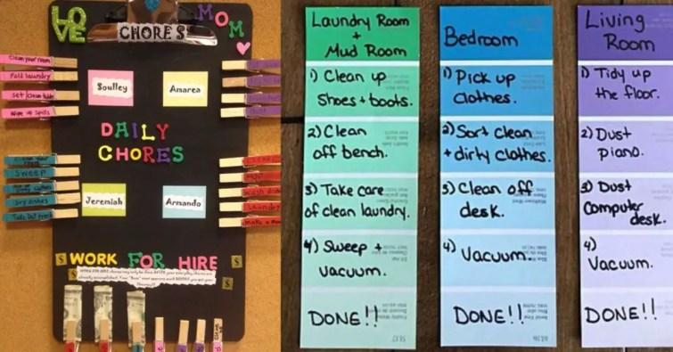 Easy DIY chore chart ideas for kids