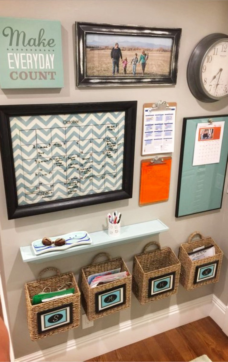 With school back in full swing, this family command center keeps us all organized.  More DIY command center ideas on this page.