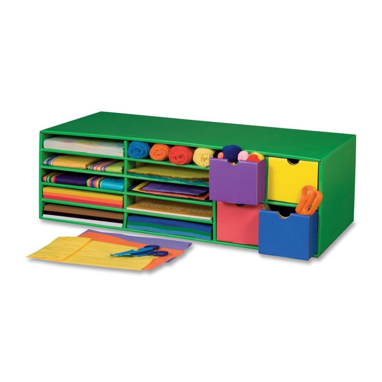 craft supplies organizer - great for a craftroom or classroom